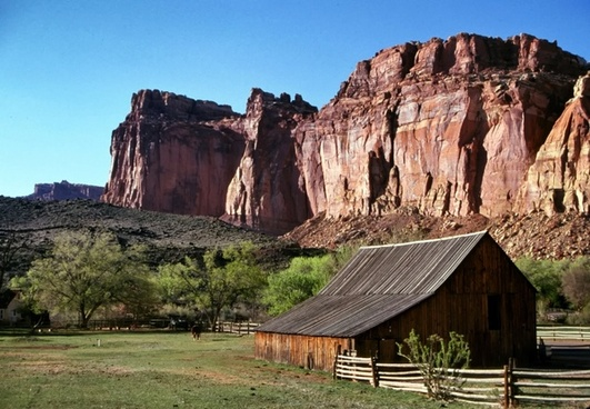 utah mountains barn
