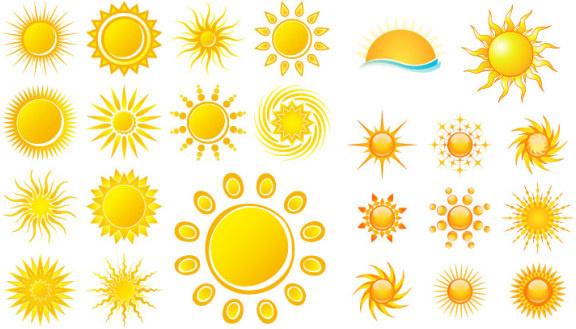 Utility sun icon vector