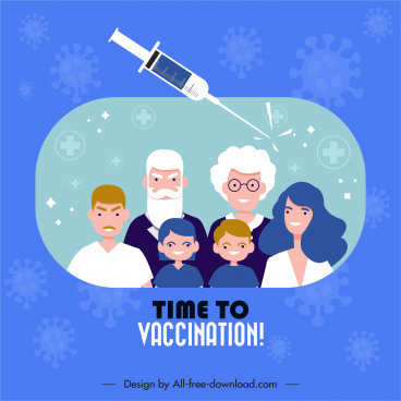 vaccination banner template community injection needle sketch