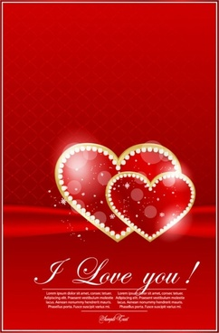 valentine39s day greeting card 02 vector