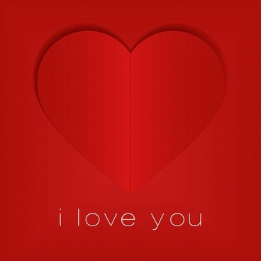 valentine39s day greeting card cover heartshaped vector
