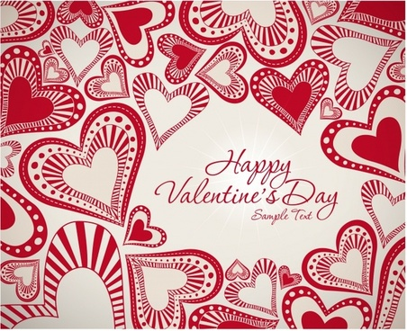 valentine39s day heart light shining paper cut vector