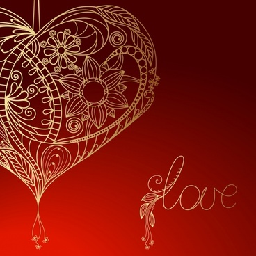 valentine39s day heartshaped background vector dynamic flow line