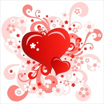 valentine39s day heartshaped card vector