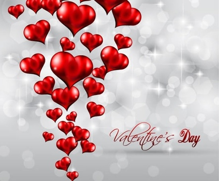 valentine39s day heartshaped heart background vector