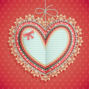 valentine39s day heartshaped labels vector