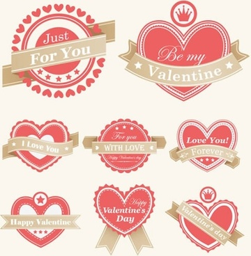 valentine39s day heartshaped red vector lace elements