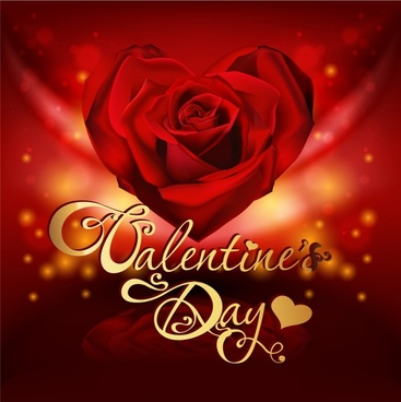 valentine39s day heartshaped roses vector