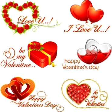 valentine39s day heartshaped rosette vector
