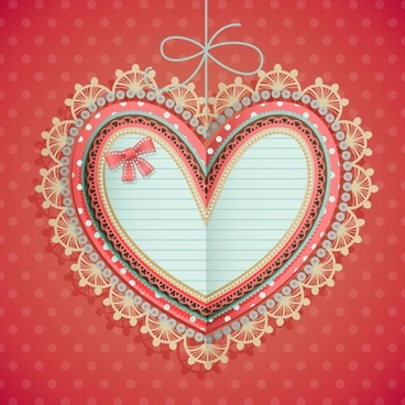 valentine39s day heartshaped tag 01 vector