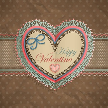 valentine39s day heartshaped tag bow roses lace vector