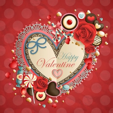 valentine39s day heartshaped tag bow roses vector