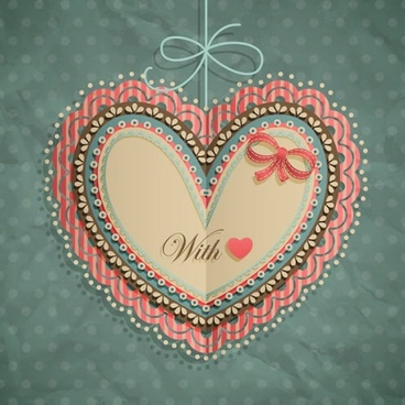 valentine39s day heartshaped tag bow vector