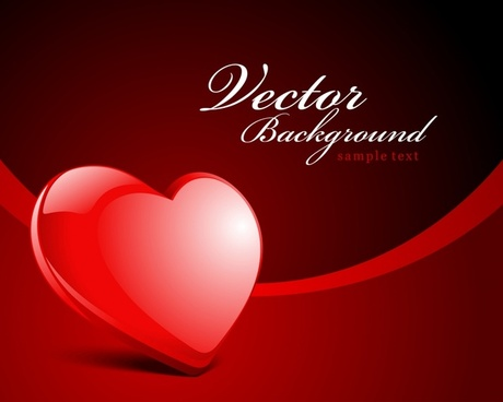 valentine background modern shiny red heart decor