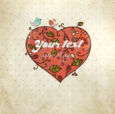valentine39s day heartshaped vector card background