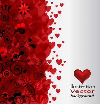 valentines background red blurred hearts modern motion design