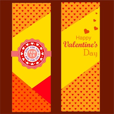 valentine card design hearts pattern on yellow background