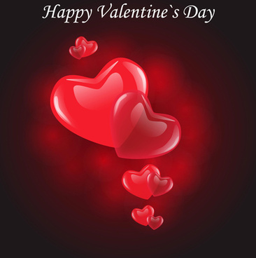 valentine day background with hearts vector