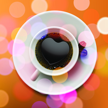 valentine day coffee heart vector card