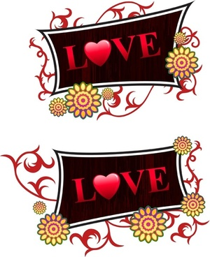 valentine day decorations vector