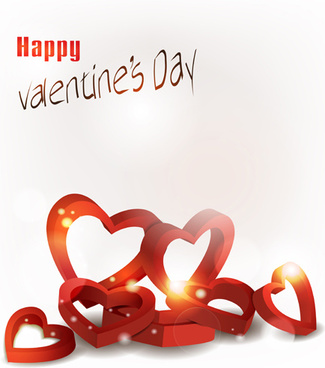 valentine day elements vector cards