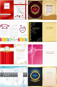 valentine day folding design template vector