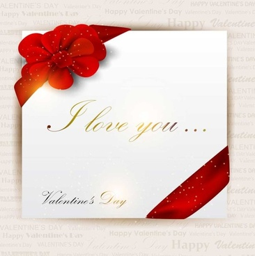 Romantic Valentine Day Gift Card Vector Free Vector In Encapsulated