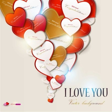 valentine day gift cards vector