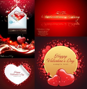 valentine day greeting card vector