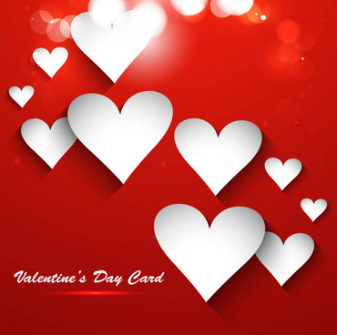 valentine day heart shaped cards vector