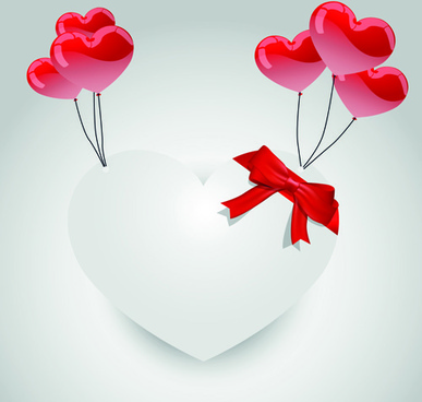 valentine day hearts elements vector