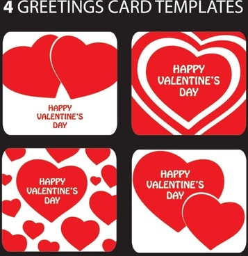 Blank greeting card template free vector download 24170 free valentine day heartshaped greeting card template vector m4hsunfo
