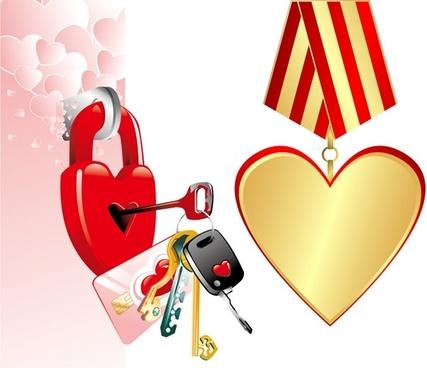 valentine day ideas pattern vector