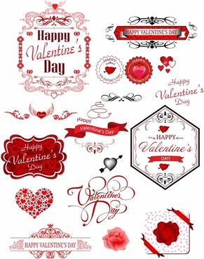 Valentine day label