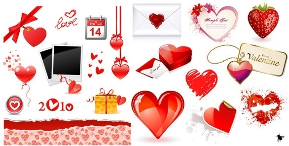 valentine day love element vector