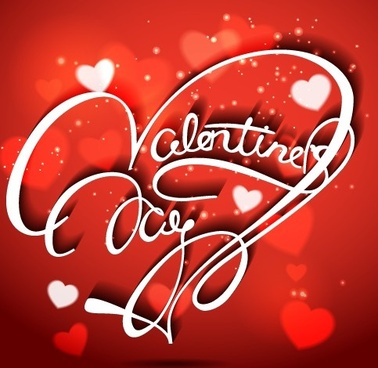 valentine day red style background vector