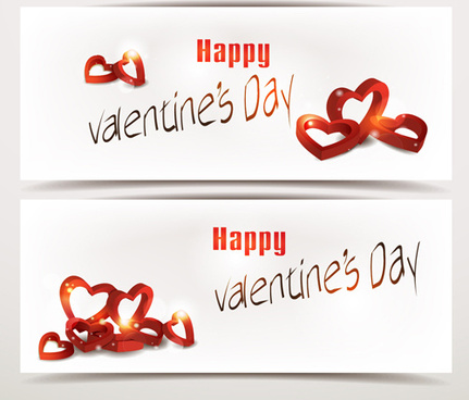 valentine day romantic banner vector