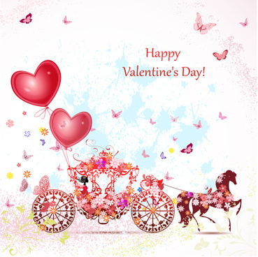 valentine day romantic coach vector