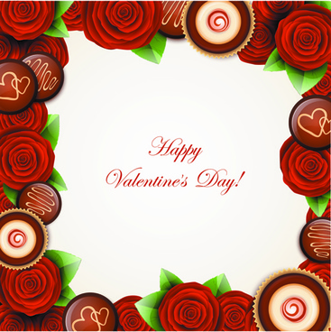 valentine day sweets cards vector
