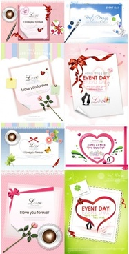 valentine day theme vector