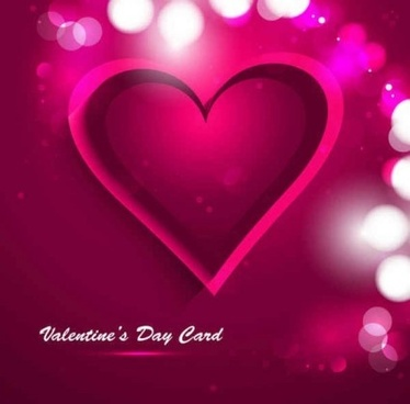 valentine day with heart greeting card illustration vector