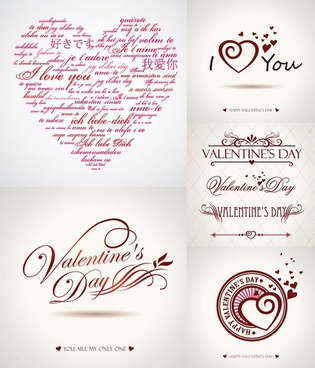 valentine day wordart graphics vector