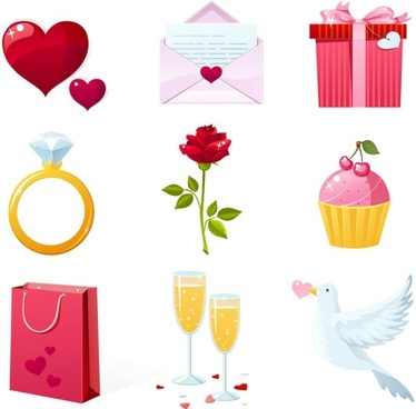 valentine elements vector