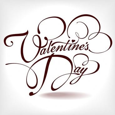 valentine background bright calligraphic decor