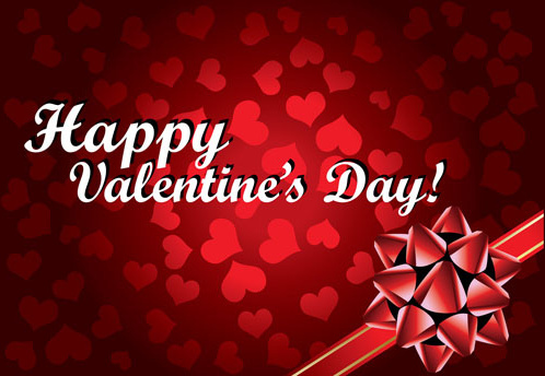 valentine gift card background vector