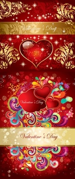 valentine gorgeous pattern vector