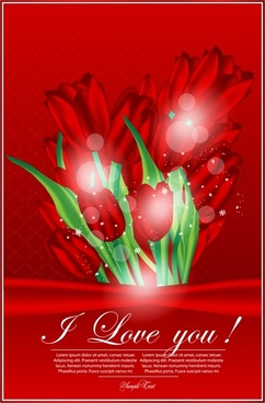 valentine gorgeous tulip flowers vector