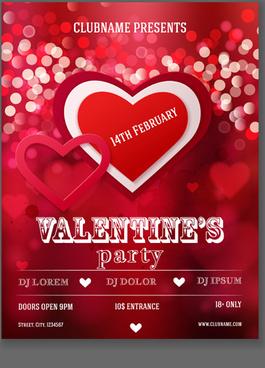 valentine heart poster vector
