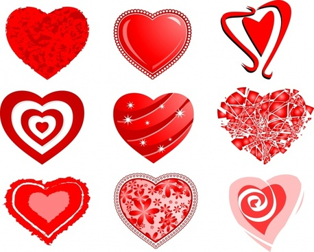 valentine hearts label vector