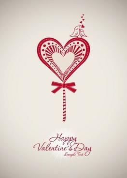 valentine hearts silhouette vector